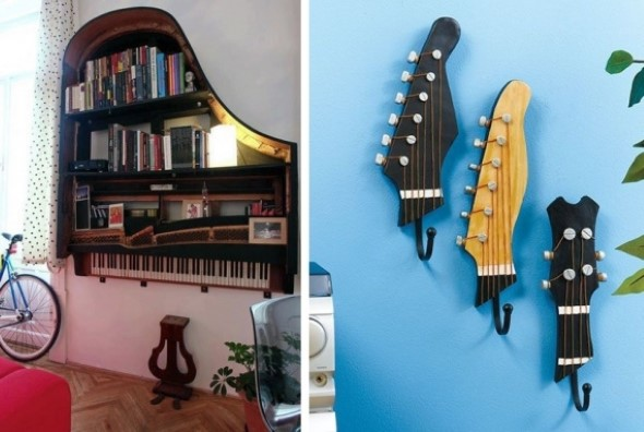 Decorando a casa com instrumentos musicais 003