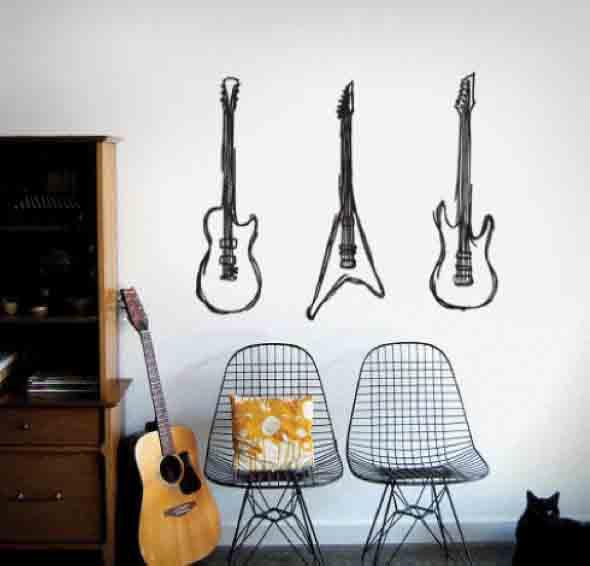 Decorando a casa com instrumentos musicais 010