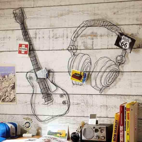 Decorando a casa com instrumentos musicais 011