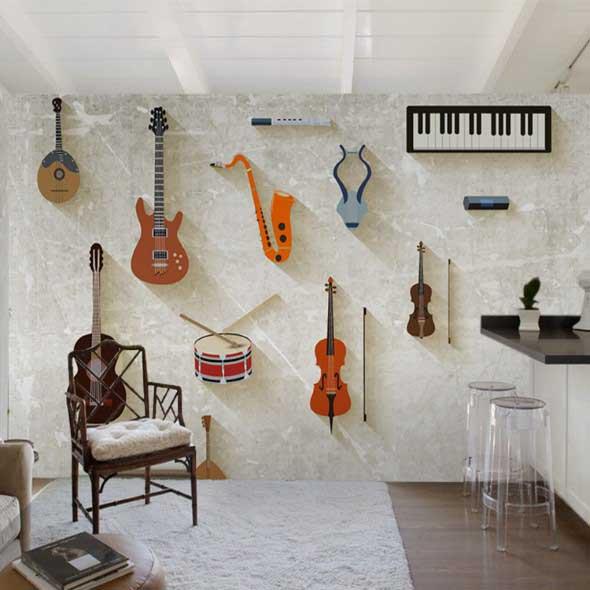 Decorando a casa com instrumentos musicais 013
