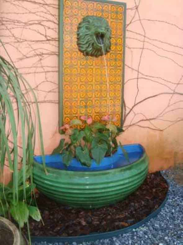 Fontes de água na decoração 017