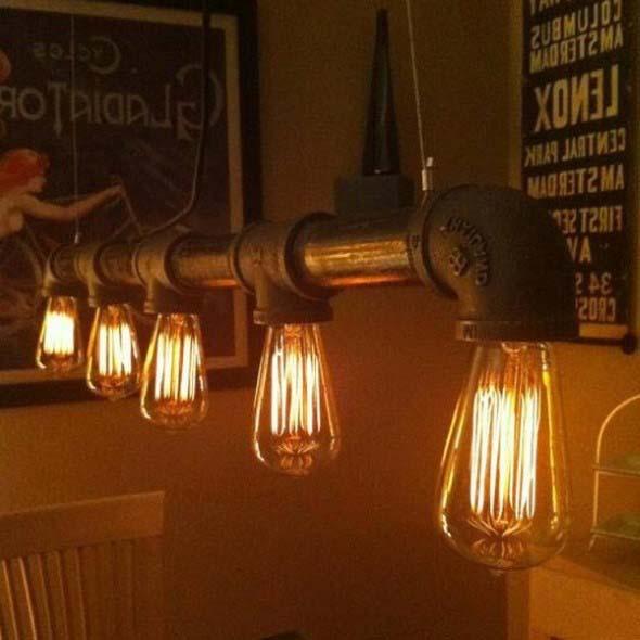 Iluminação com lâmpadas vintage na decoração 005