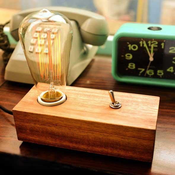 Iluminação com lâmpadas vintage na decoração 007