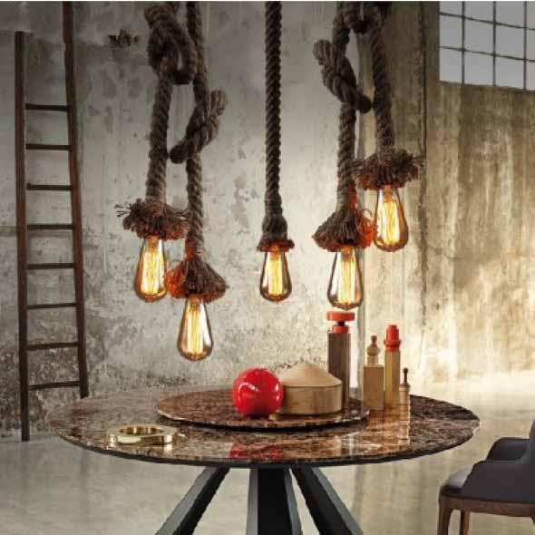 Iluminação com lâmpadas vintage na decoração 011