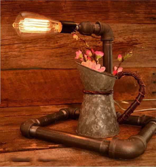 Iluminação com lâmpadas vintage na decoração 012