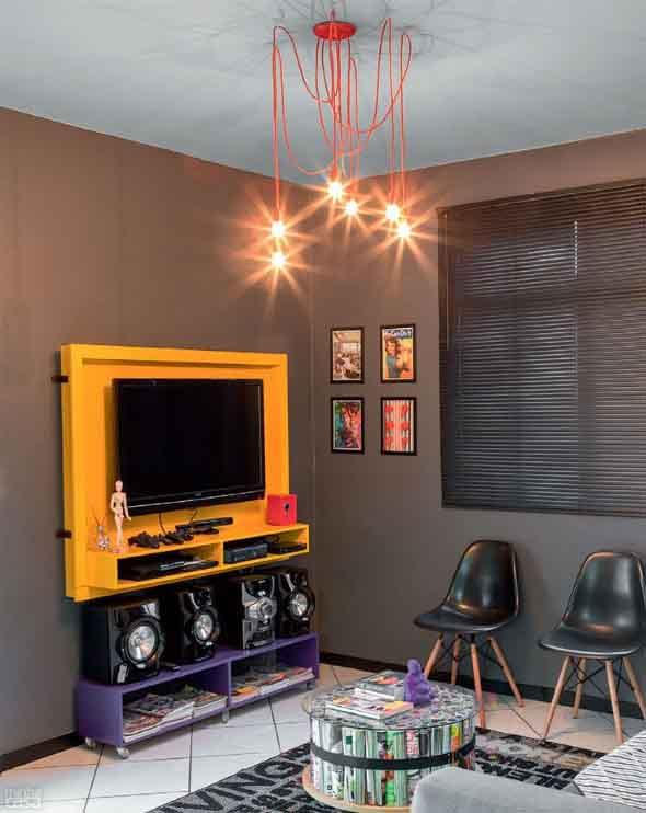 Iluminação com lâmpadas vintage na decoração 013