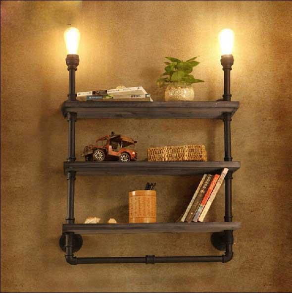 Iluminação com lâmpadas vintage na decoração 015