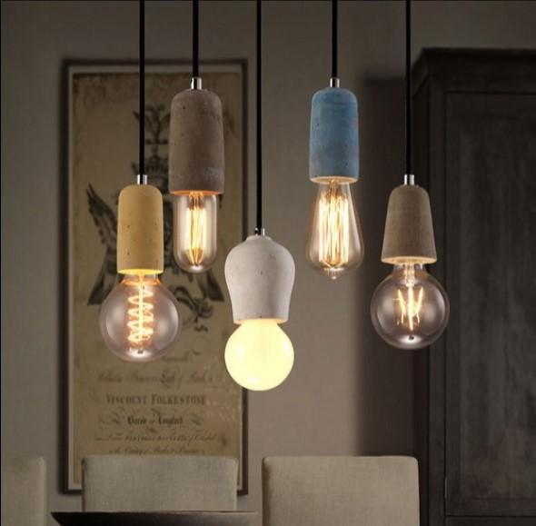 Iluminação com lâmpadas vintage na decoração 016