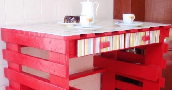 Mesa da cozinha de paletes 003
