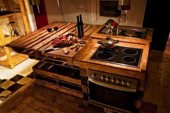 Mesa da cozinha de paletes 004