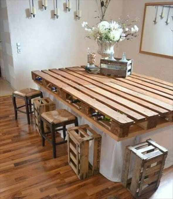 Mesa da cozinha de paletes 006