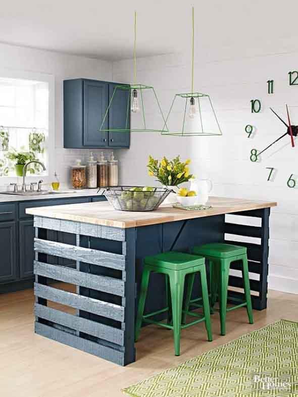 Mesa da cozinha de paletes 011