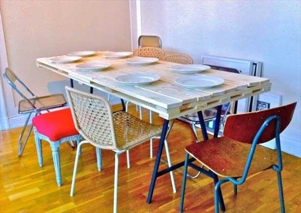 Mesa da cozinha de paletes 012