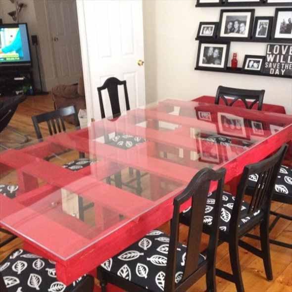 Mesa da cozinha de paletes 013