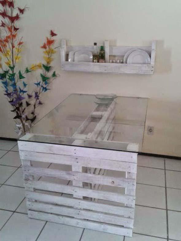 Mesa da cozinha de paletes 014