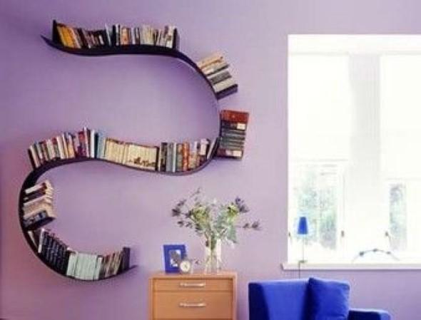 Prateleiras e estantes com formato de letras 006