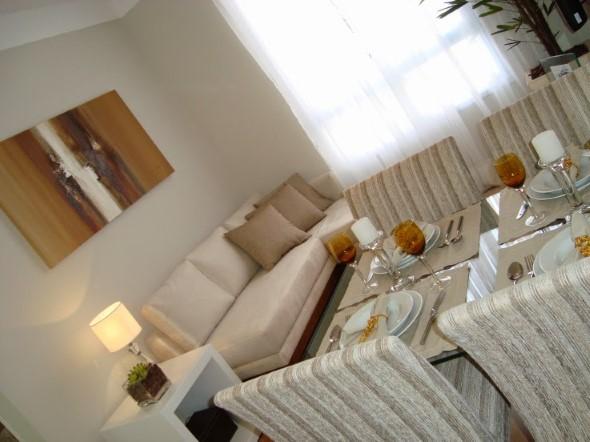 Sala de jantar e estar integradas na decoração 008