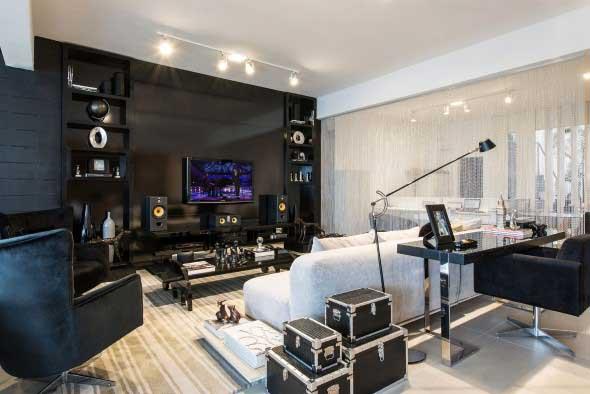 Salas de estar modernas e atuais 022