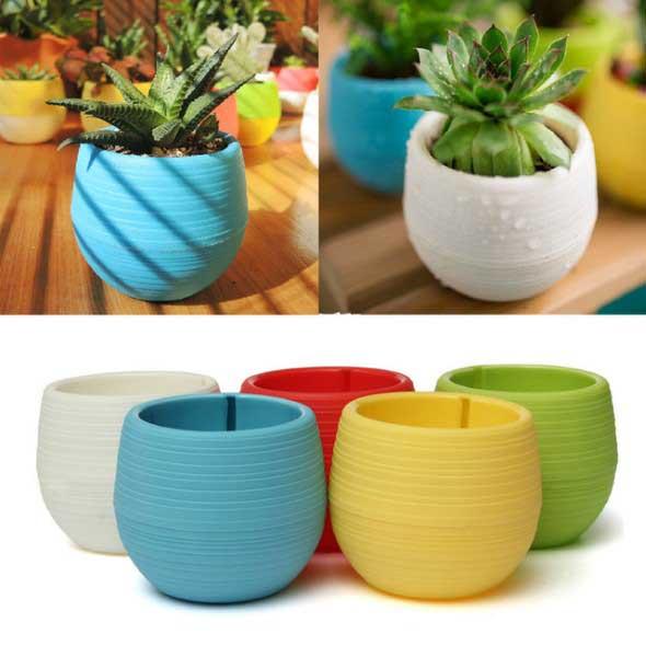 Vasinhos de flores e plantas para enfeitar a casa 020