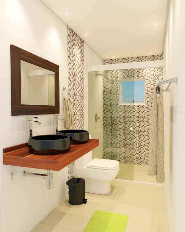 Banheiro de casal charmoso na decoração 006