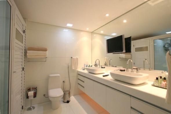 Banheiro de casal charmoso na decoração 009