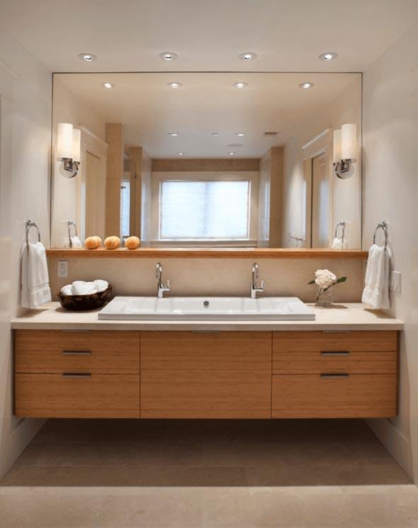 Banheiro de casal charmoso na decoração 011