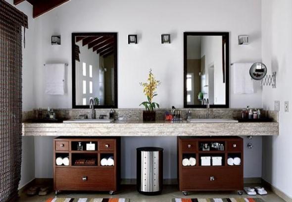 Banheiro de casal charmoso na decoração 012