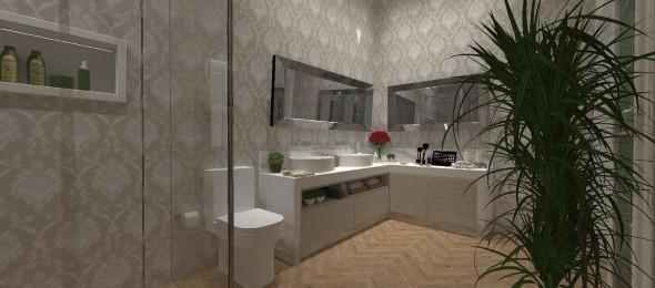 Banheiro de casal charmoso na decoração 022