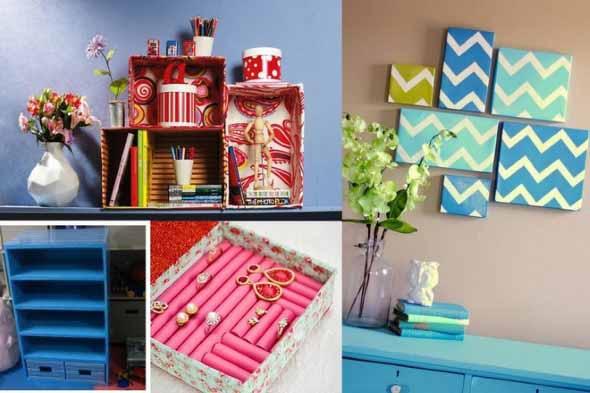 DIY - Caixas de papelão na decoração 002