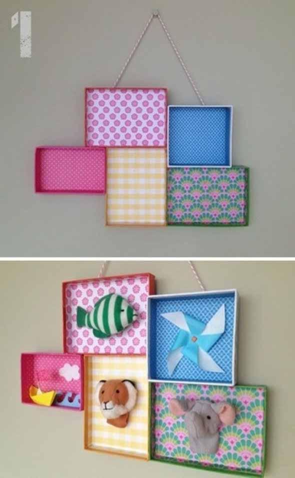 DIY - Caixas de papelão na decoração 004