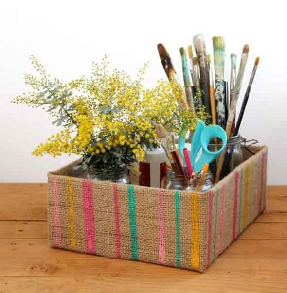 DIY - Caixas de papelão na decoração 005