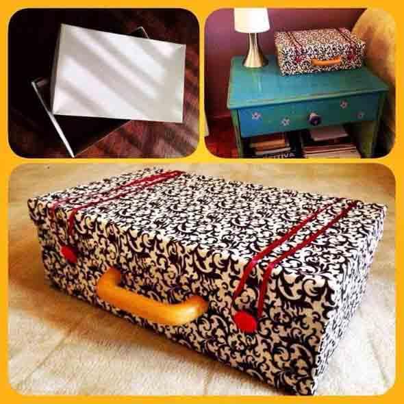 DIY - Caixas de papelão na decoração 006