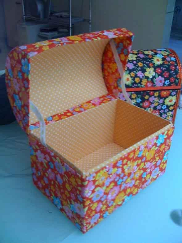 DIY - Caixas de papelão na decoração 015