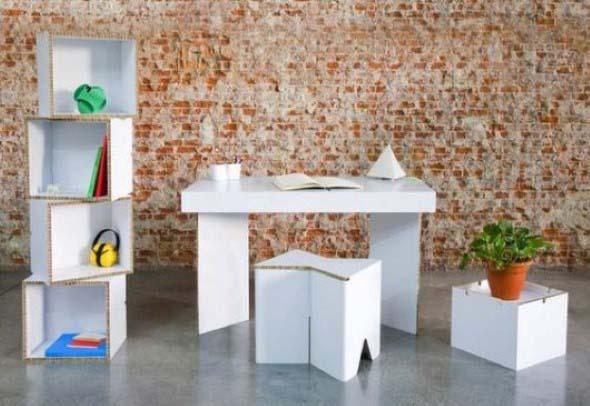 DIY - Caixas de papelão na decoração 017
