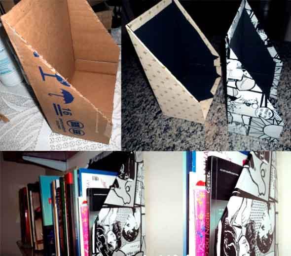 DIY - Caixas de papelão na decoração 019