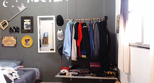 DIY - Como montar uma arara de roupas 003