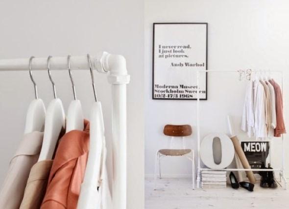DIY - Como montar uma arara de roupas 004