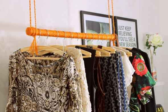 DIY - Como montar uma arara de roupas 006