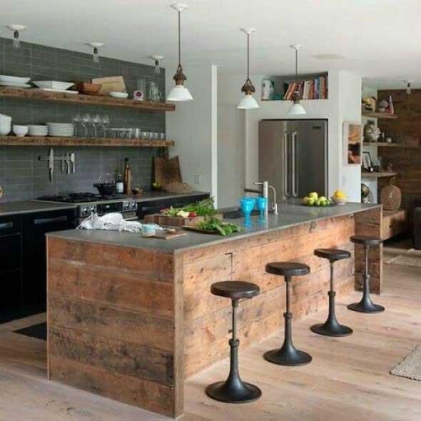 Decoração de cozinhas rústicas 001