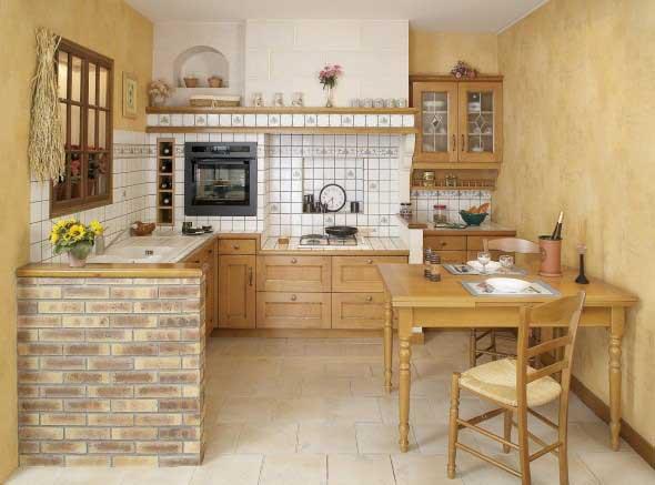 Decoração de cozinhas rústicas 012