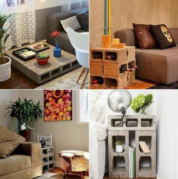 Ideias de decoração com blocos de concreto 001