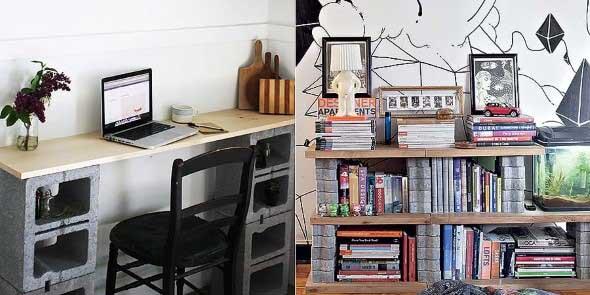 Ideias de decoração com blocos de concreto 003