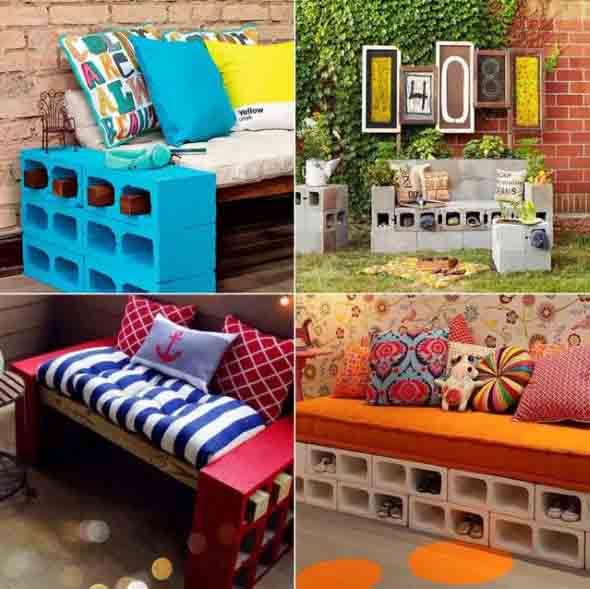 Ideias de decoração com blocos de concreto 017