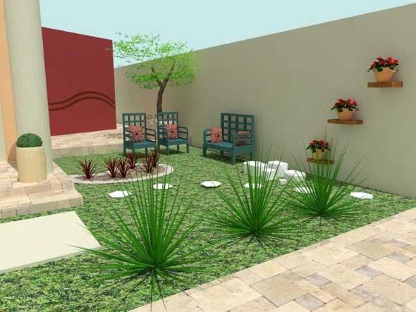 Jardins residenciais pequenos e charmosos 003