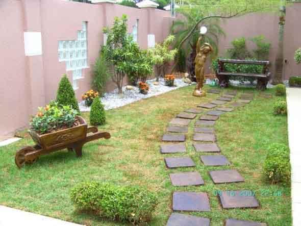 Jardins residenciais pequenos e charmosos 005