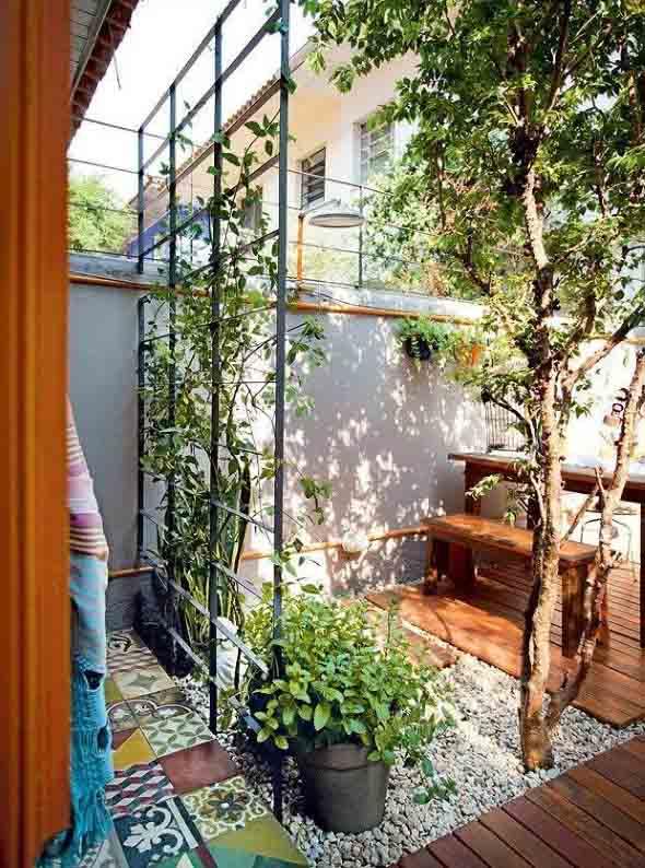 Jardins residenciais pequenos e charmosos 012