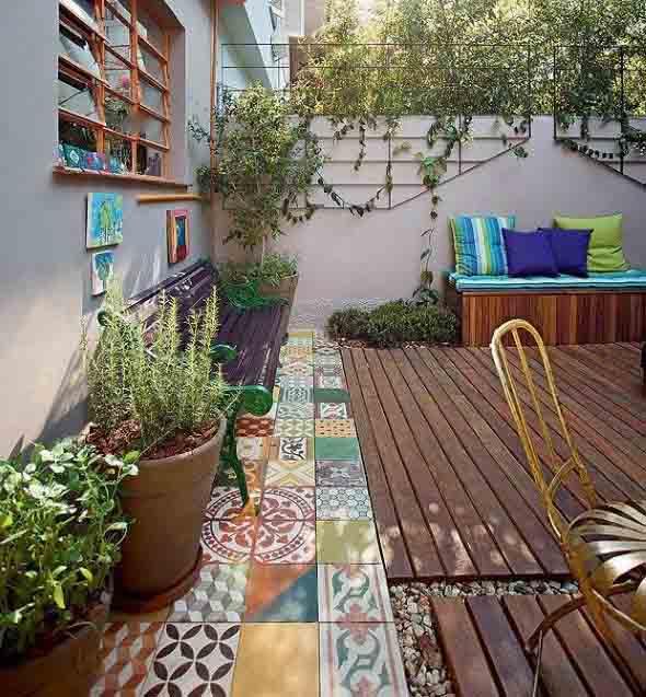 Jardins residenciais pequenos e charmosos 024