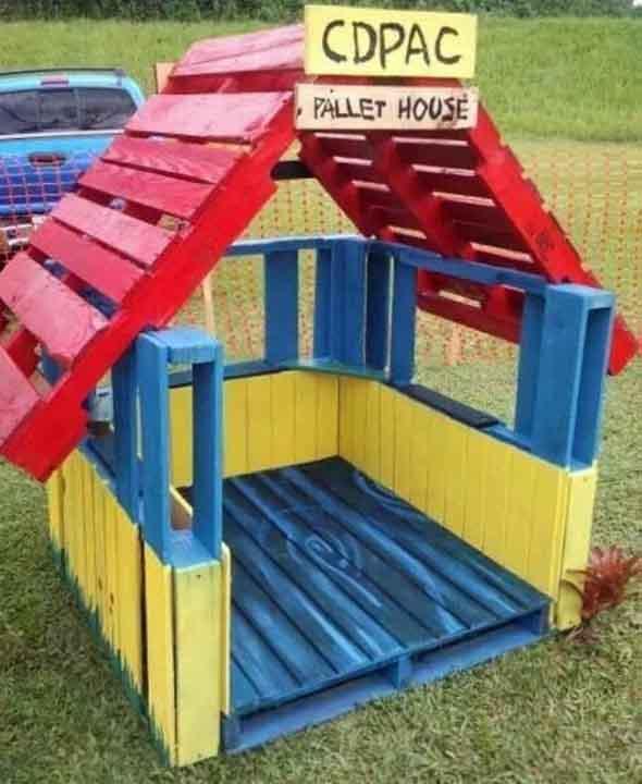 Projetos para crianças com paletes de madeira 008