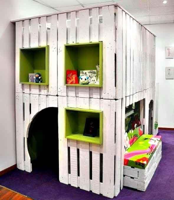 Projetos para crianças com paletes de madeira 010