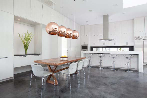Ambientes decorados com cimento queimado 006